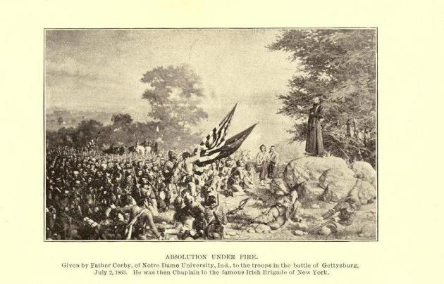 Father Corby at Gettysburg (Memoirs of Chaplain Life)
