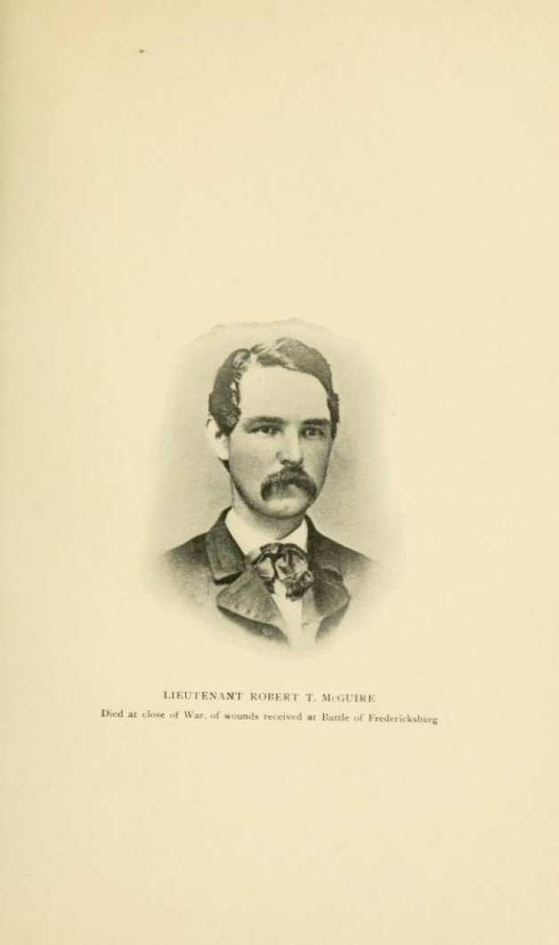 Lieutenant Robert T. McGuire, 116th Pennsylvania Infantry. Wounded at Fredericksburg, he died of his wounds some years later.