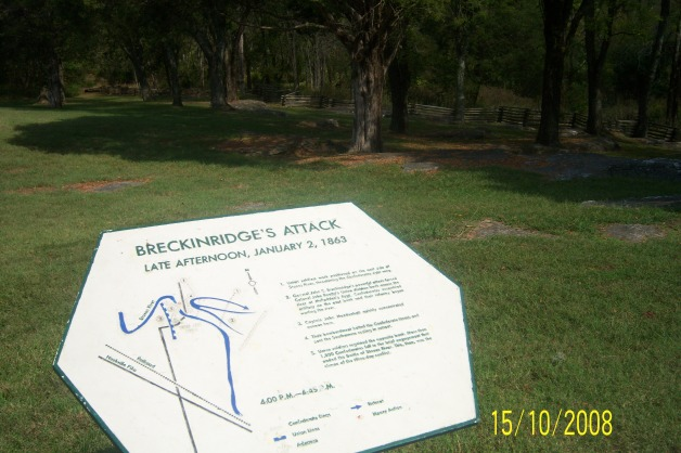Part of the ground through which the Confederates attacked on 2nd January 1863