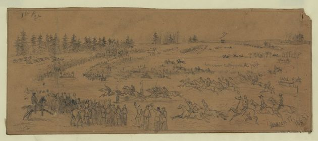 St. Patrick's Day in the Army- The Steeple Chase by Edwin Forbes (Library of Congress)