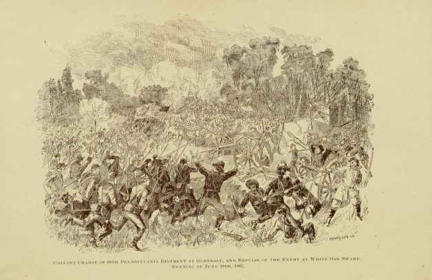 The bayonet charge of the 69th Pennsylvania at Glendale as portrayed in McDermott's