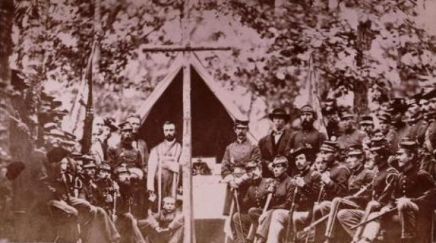 Officers and men of the 9th Massachusetts (Library of Congress)