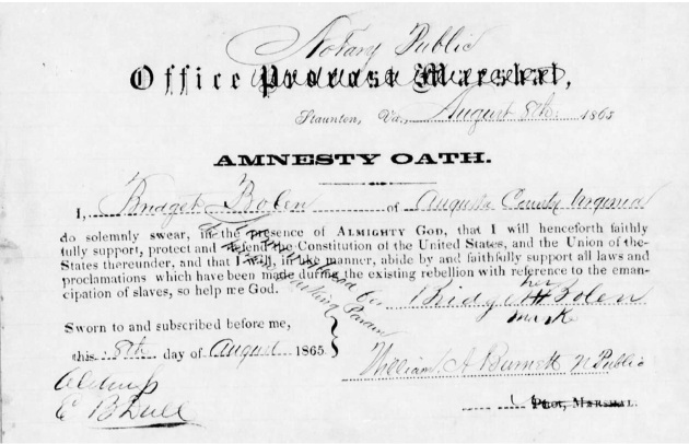 Bridget Bolin Amnesty Oath