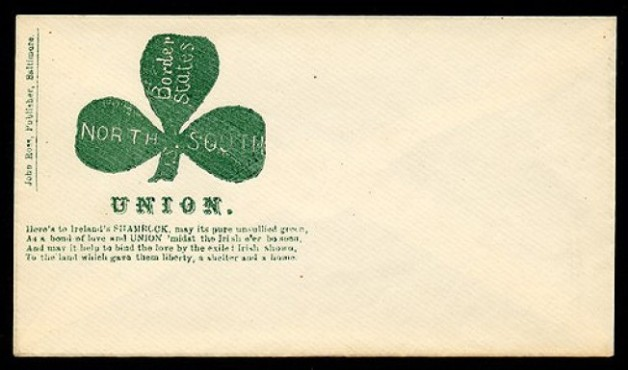 Irish Themed Union Envelope (Civil War Treasures from the New York Historical Society, via Library of Congress)
