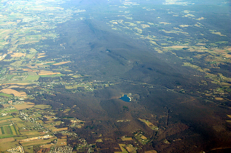 Aerial View of South Mountain, Maryland