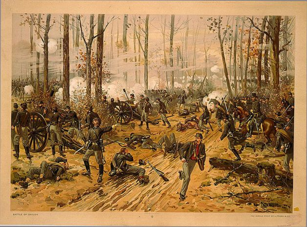 Battle of Shiloh (Chromolithograph by Thure de Thulstrup, 1888)