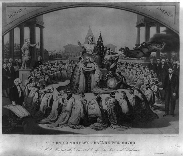'The Union Must and Shall be Preserved' wartime print (Library of Congress)
