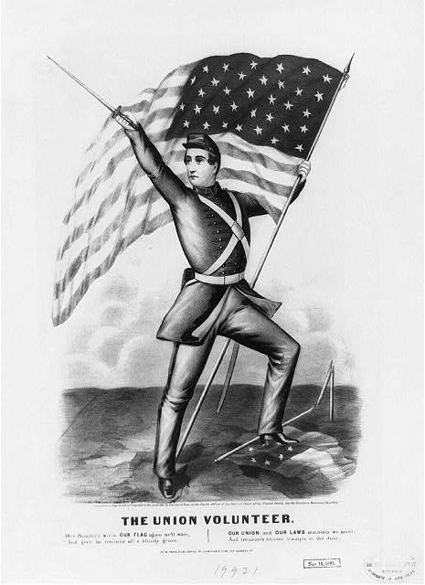 'The Union Volunteer' by Currier & Ives, 1861 (Library of Congress)