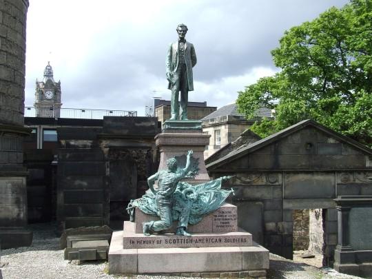 The American Civil War Memorial in Old Calton Cemetery, Edinburgh