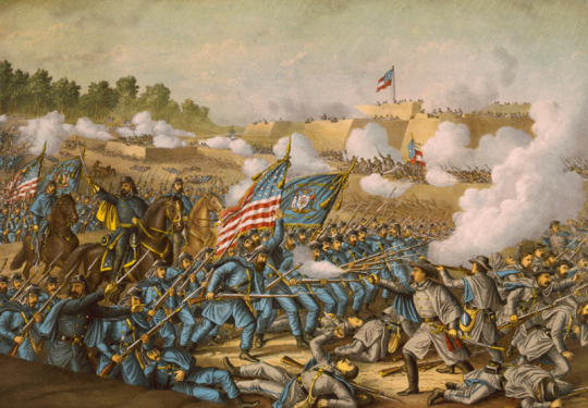 Battle of Williamsburg, 5th May 1862 (Kurz and Allison, 1893)