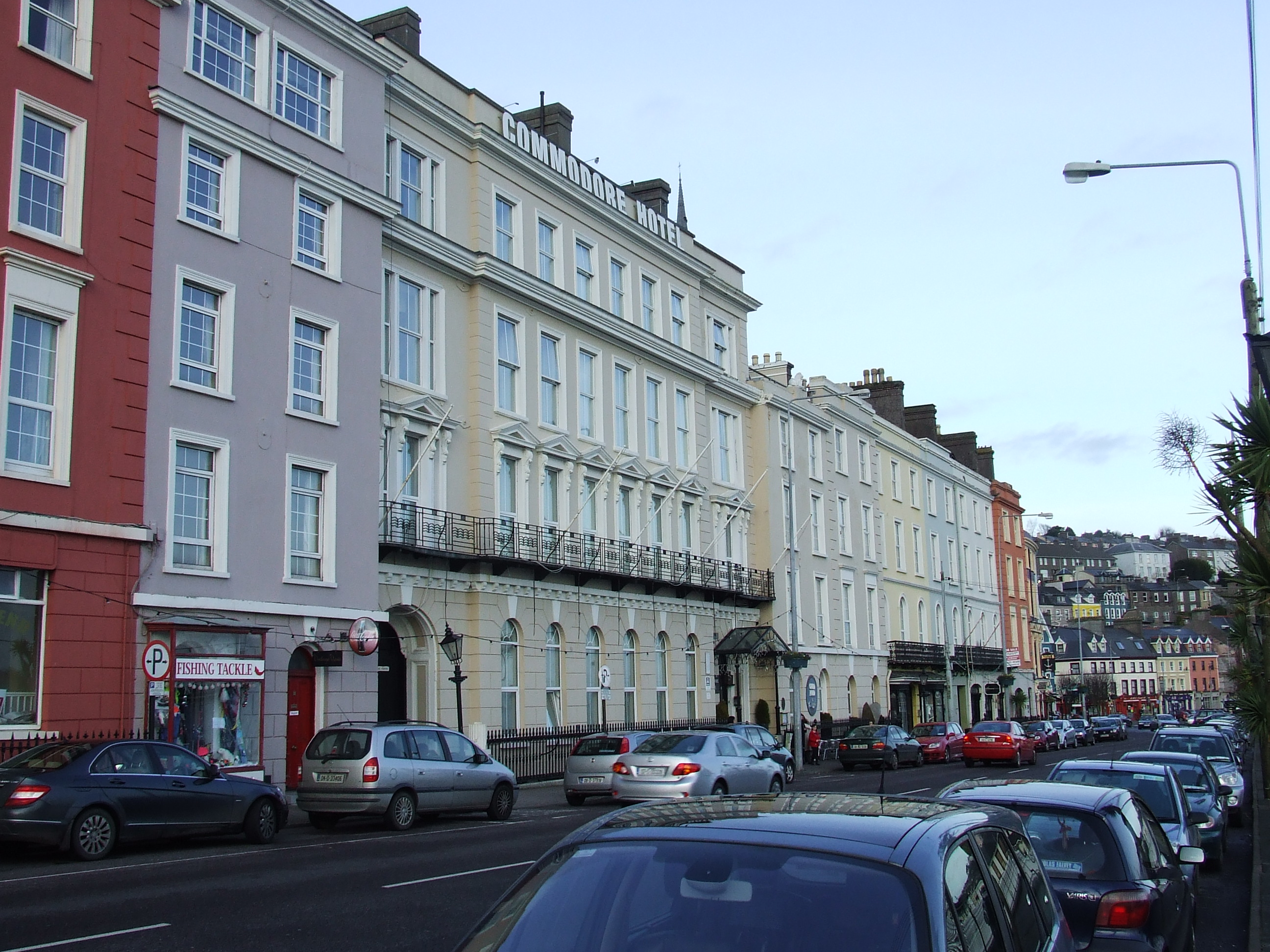 The main waterfront buildings in Cobh (Queenstown), Co. Cork as they appear today