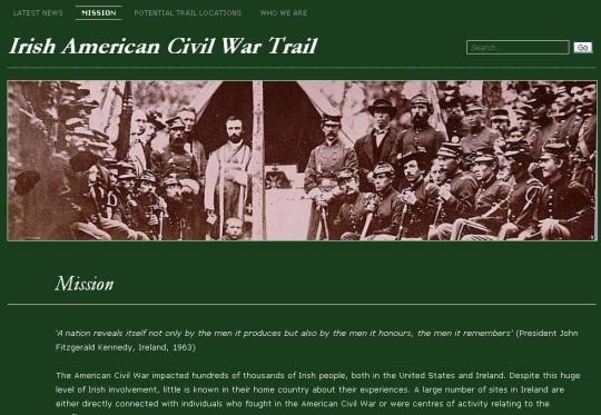 Irish American Civil War Trail Website