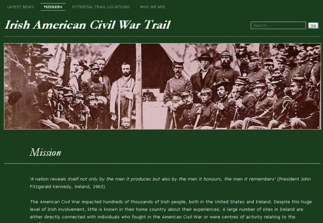 Irish American Civil War Trail Website