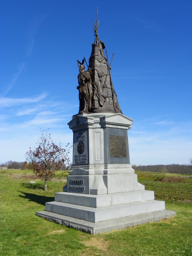 The 42nd New York 'Tammany Regiment' memorial at Gettysburg (Photo: J. Stephen Conn)