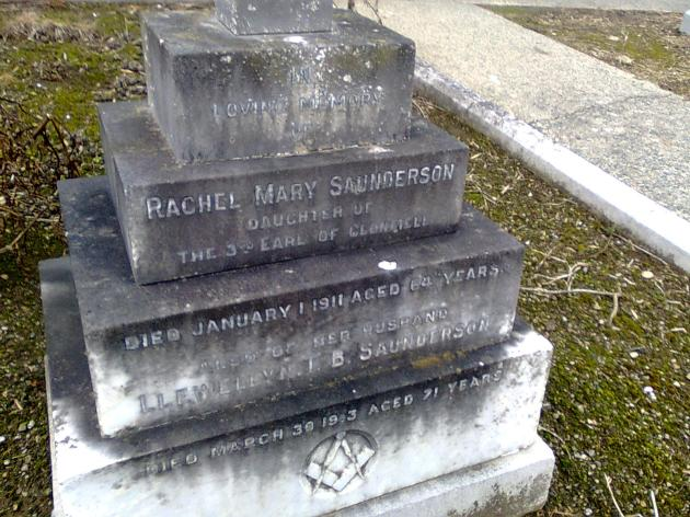 The grave of Llewellyn Traherne Bassett Saunderson, Deansgrange, Co. Dublin (Photo: Eamonn McLoughlin)