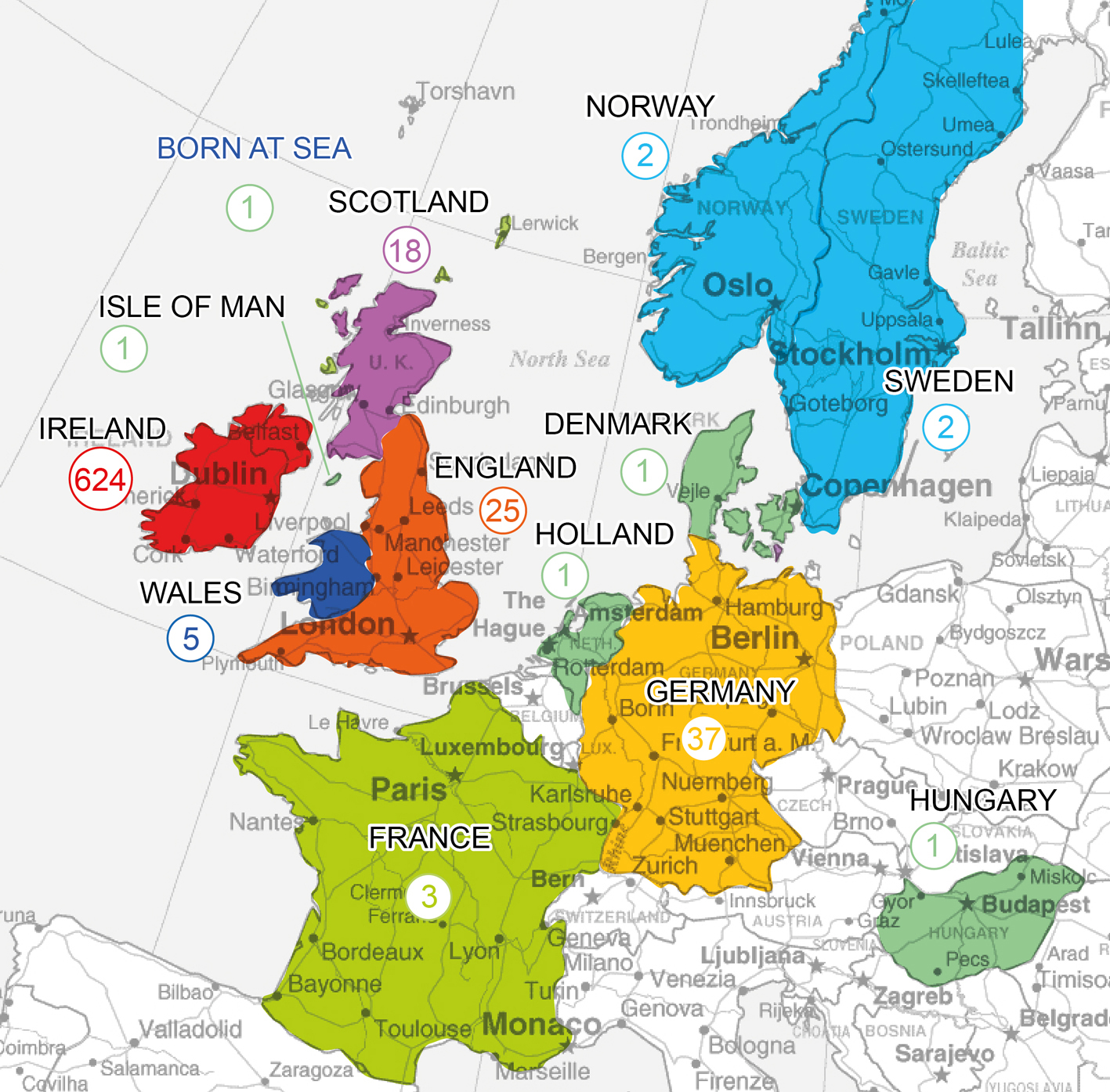 map of europe showing ireland Where Were 'Irish' Soldiers From?: A Case Study of the 90th