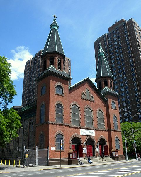 St. Mary's Church, Manhattan, where Patrick Casey married Mary McCormick in 1860 (Image via Wikipedia)