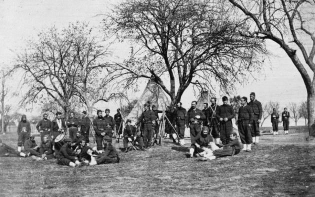 Men of the 164th New York, Corcoran's Irish Legion (Library of Congress)