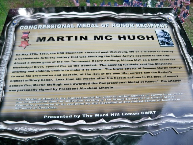 The Martin McHugh Information Panel (Photograph: Paula Hurst)