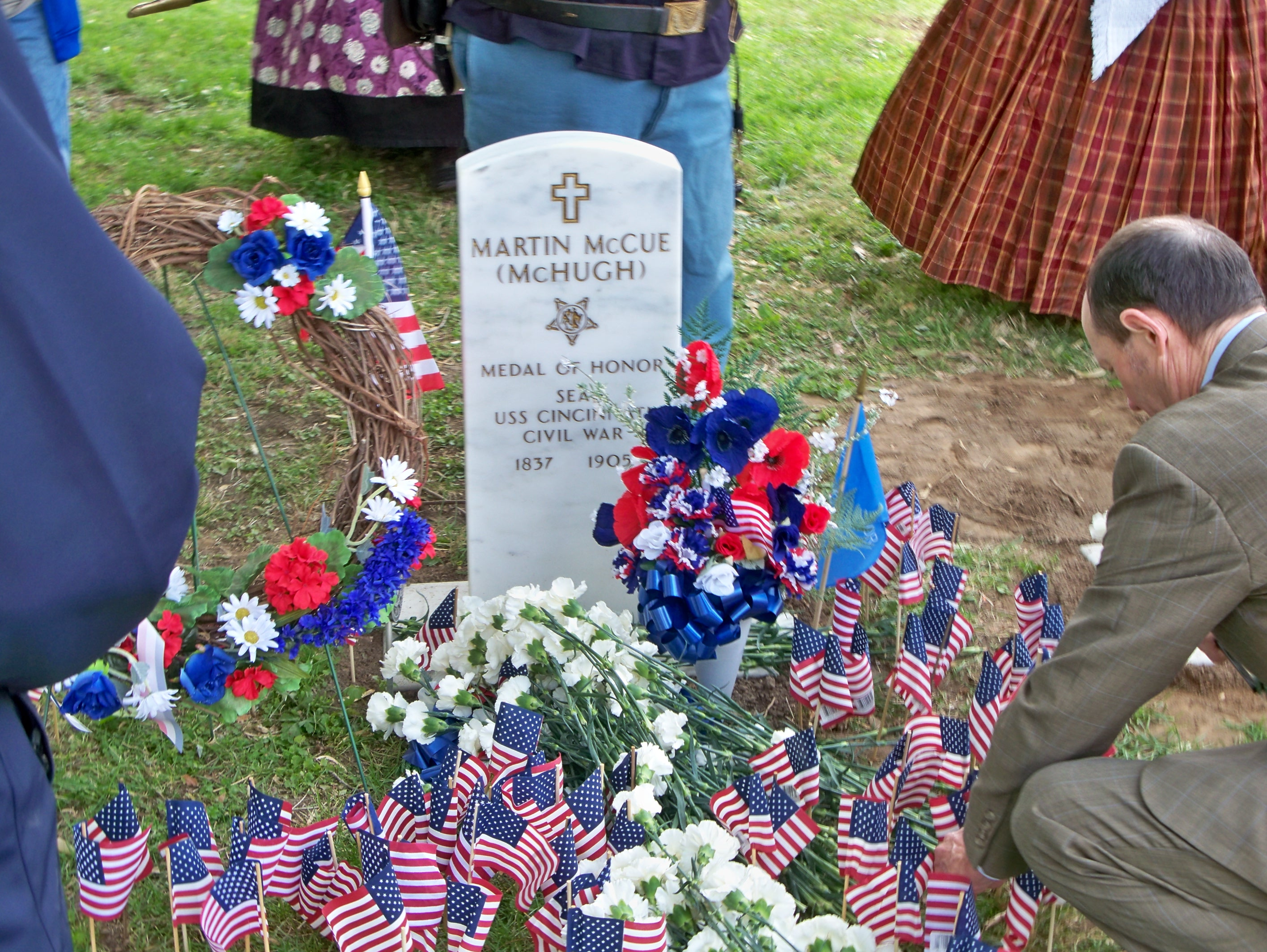 The Marker for Congressional Medal of Honor Recipient Martin McHugh (Photograph: Paula Hurst)