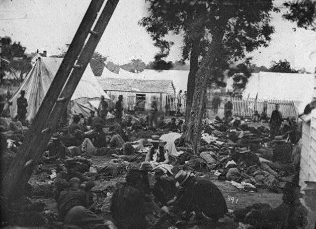 A Field Hospital after the Battle of Savage Station, 1862 (Library of Congress)