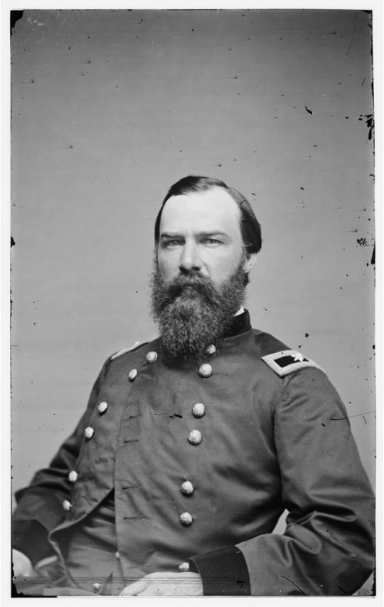 Alvan Gillem, James Wall Scully's friend and mentor. Gillem rose to become a General before war's end and continued in the regular army after 1865. (Library of Congress)