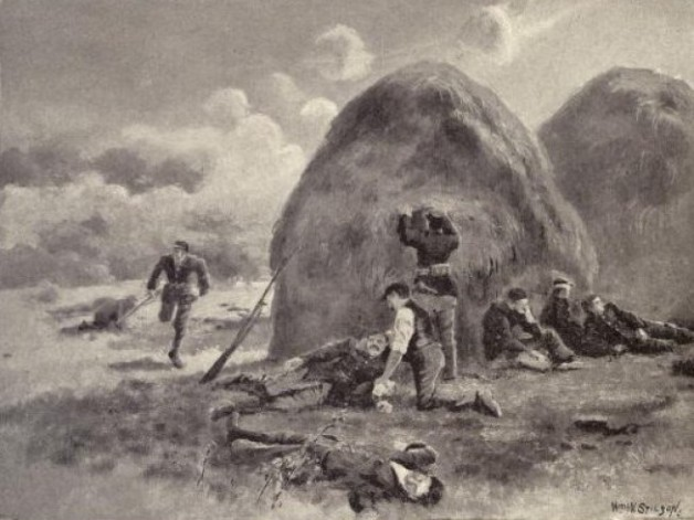 The Temporary Field Hospital set up by Richard Curran behind Haystacks at Antietam (Deeds of Valor)