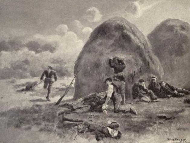 The Temporary Field Hospital set up by Richard Curran behind Haystacks at Antietam (Deeds of Valor)