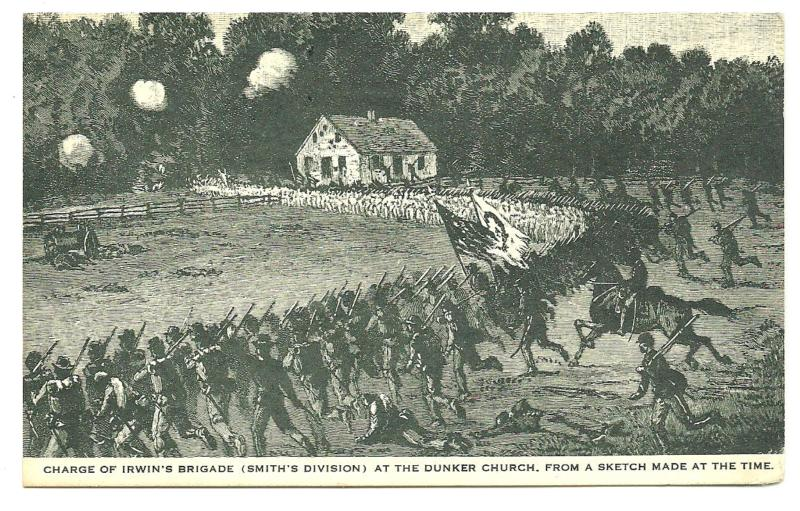 The Charge of Irwin's Brigade around the Dunker Church at Antietam