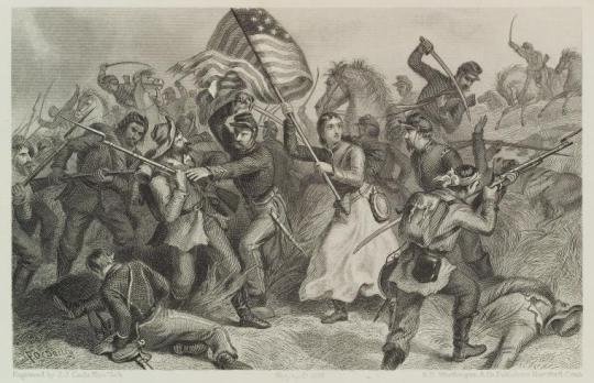 'Michigan Bridget' as she was portrayed in post war illustrations (Livermore)