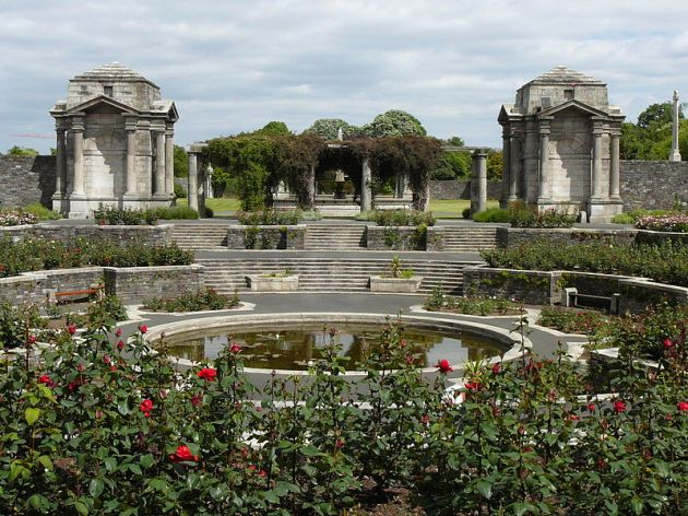 The World War One Memorial Garden in Dublin. Ireland has yet to recognise the similarly colossal Irish involvement in the American Civil War with a national memorial. (Image via Wikipedia)