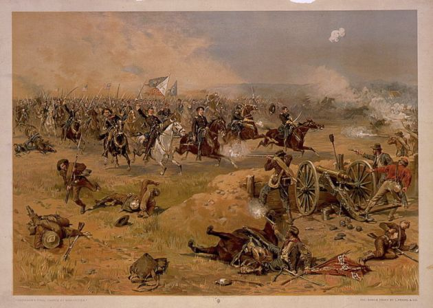 Sheridan's Final Charge at the Battle of Third Winchester (Library of Congress)