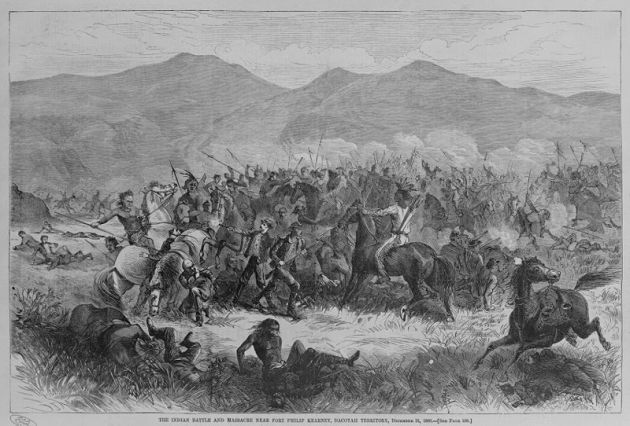 An 1867 representation of the Fetterman Fight (Library of Congress)
