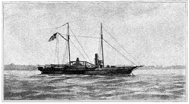 The USS Hetzel. The crew donated $25 to the Irish Relief Fund during the American Civil War (United States Navy)
