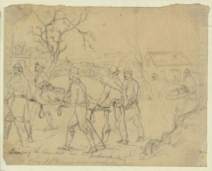 Bringing in the Wounded at Fredericksburg (Arthur Lumley/Library of Congress)
