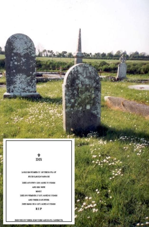 The Cavanagh Family Headstone, Cappincur, Co. Offaly (Michael MacNamara)