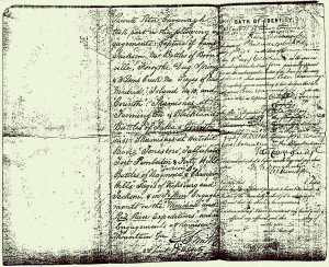 Peter's 1864 discharge paper, charting the impressive list of actions he had up to that point being engaged in (Michael MacNamara)