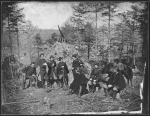 Officers of the 164th New York Infantry and 170th New York Infantry, Corcoran's Irish Legion, 1863 (Library of Congress)