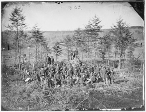 A Company of the 170th New York Infantry, Corcoran's Irish Legion, 1863 (Library of Congress)