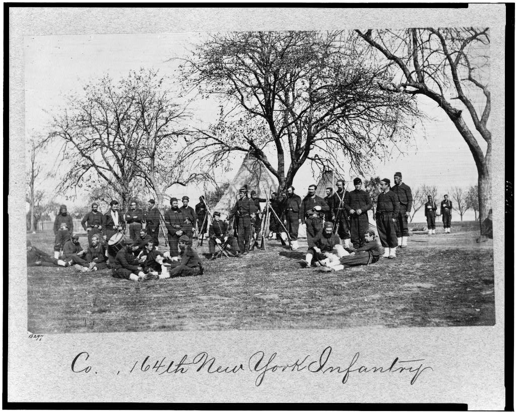 Men of the 164th New York Infantry, Corcoran's Irish Legion (Library of Congress)
