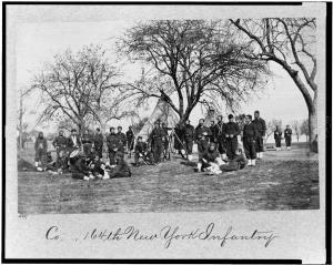 Men of the 164th New York Infantry, Corcoran's Irish Legion (Library of Congress)