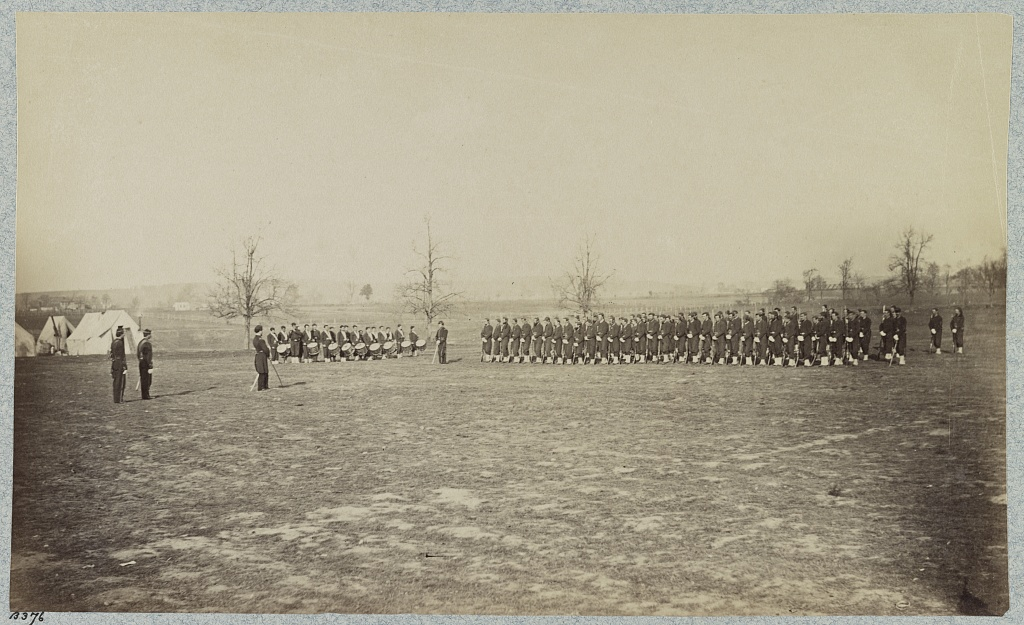 Guard Mount, 164th New York Infantry, Corcoran's Irish Legion (Library of Congress)