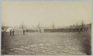 Guard Mount, 164th New York Infantry, Corcoran's Irish Legion (Library of Congress)