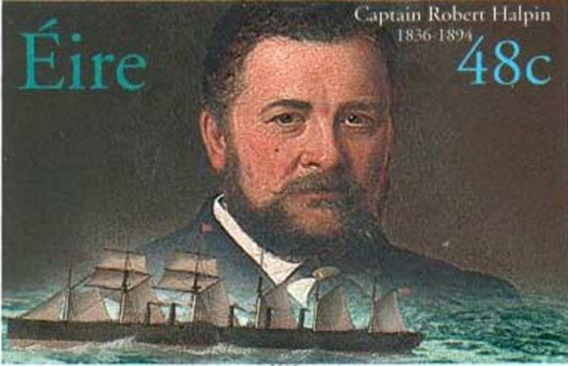Captain Robert Halpin from Co. Wicklow was commemorated in a series of famous mariner stamps by An Post in 2003. Although most famous forr laying telegraphic cables, he was also a blockade runner in the American Civil War