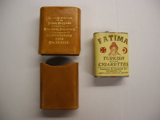 The cigarette case in pristine condition, replete with original Turkish cigarettes (Patricia Doherty)
