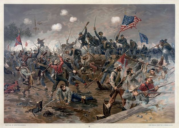 The Union assault at Spotsylvania by Thure de Thulstrup (Library of Congress)