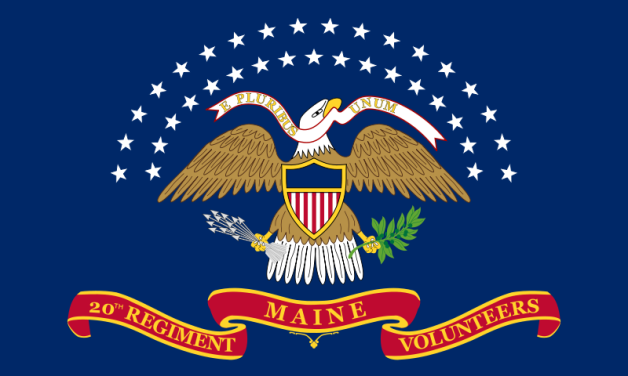 Colors of the 20th Maine Infantry (Image via Wikipedia)