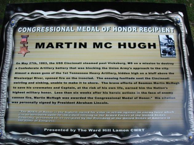 Martin McHugh Information Board in Danville, Illinois (Machelle Long)