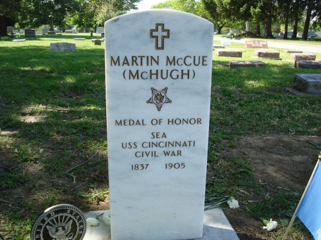 The grave of Medal of Honor recipient Martin McHugh (Machelle Long)