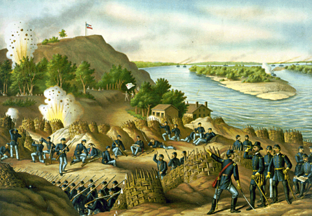 Siege of Vicksburg by Kurz and Allison c. 1888 (Library of Congress)